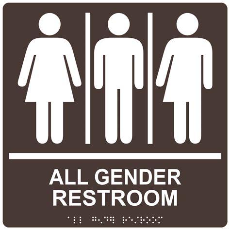 gender neutral bathrooms ada all gender restroom sign rre 25413 99 whtondkbn gender