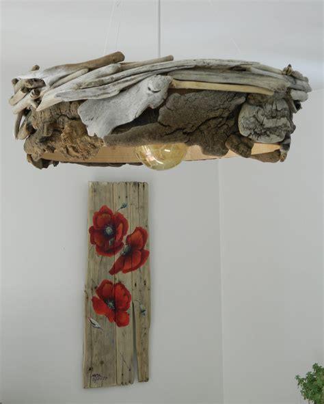 un lustre un lustre avec un tamis au fil de l eau bois flott 233