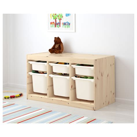 Ikea Trofast trofast storage combination with boxes light white stained pine white 94x44x52 cm ikea