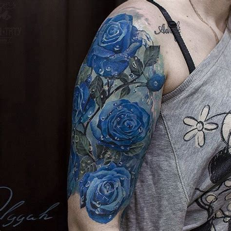 blue rose tattoo and piercing amazing artist olggah grigoryeva olggah grigoryeva blue
