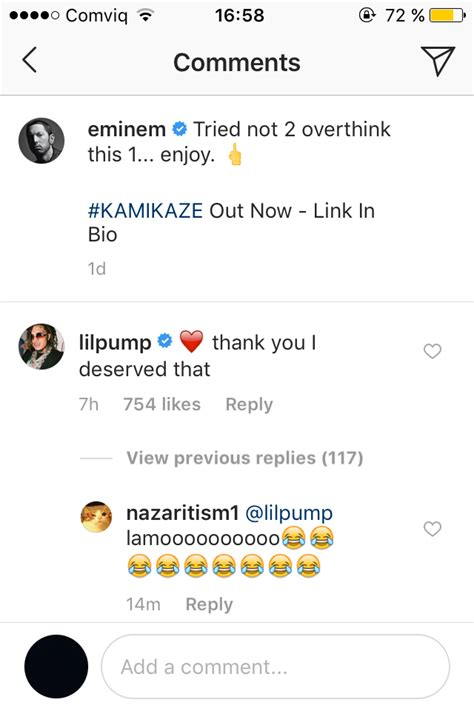 lil pump on eminem lil pump responds to eminem s diss with humility and love