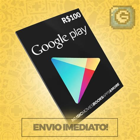 Android Play Store Gift Card - cart 227 o google play store gift card r 100 reais br android r 115 99 em mercado livre