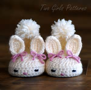 Crochet patterns baby booties bunny pinpoint
