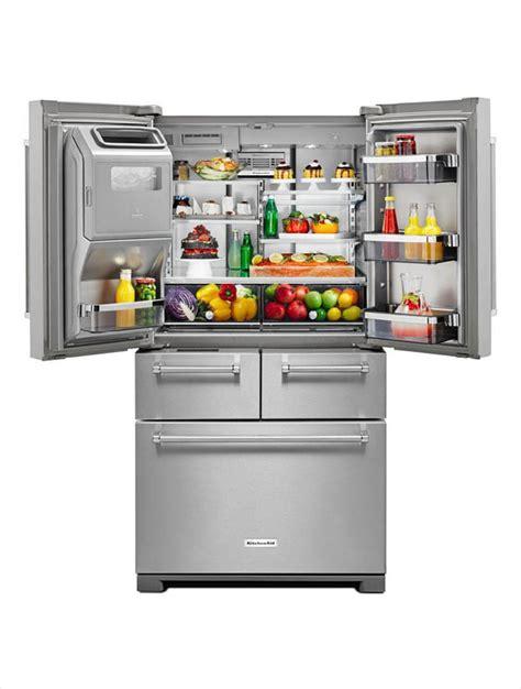 Kitchenaid Fridge Grey Interior Kitchenaid 25 8 Cu Ft Door Refrigerator In