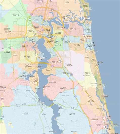 Records Jacksonville Fl Jacksonville Florida Zip Code Map My