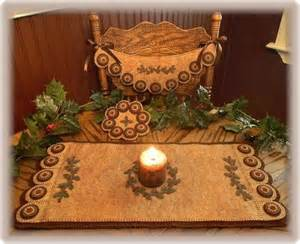 Penny rug candle mat chair swag amp mini mat pattern ebay