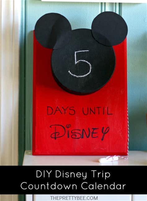 how to make a disney countdown calendar diy disney countdown calendar the pretty bee