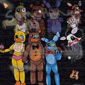 Five nights at freddys gang drawing bunnyhop23 169 2015 apr 7 2015