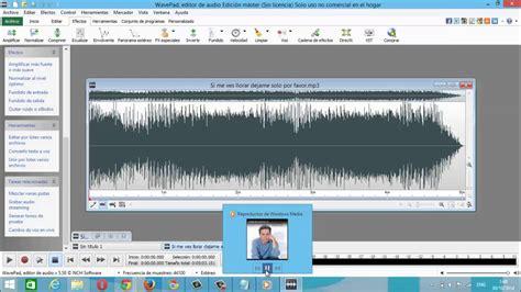 tutorial wavepad sound editor pdf tutorial de wavepad 2015 editor de voz y audio youtube