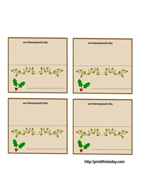 free photo card templates 2012 6 best images of free printable placecards wedding place