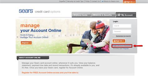 sears credit card make payment sears credit card login make a payment creditspot