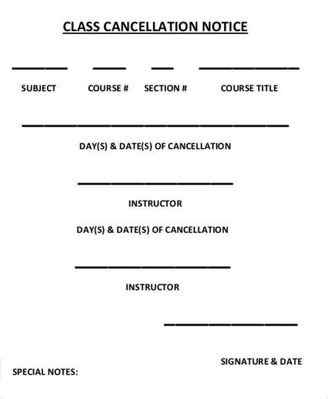 11 cancellation notice templates free sle exle
