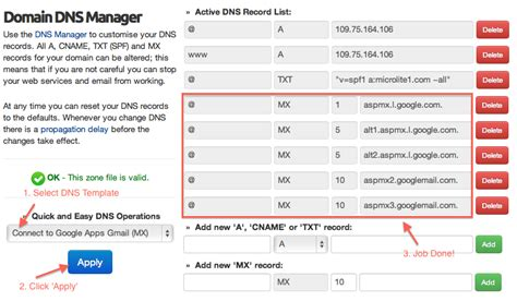 parked domains   dns manager ukc