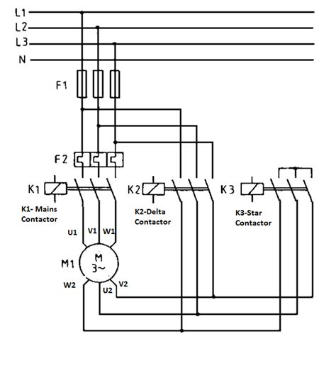 electrical circuit diagram of delta starter diagrams