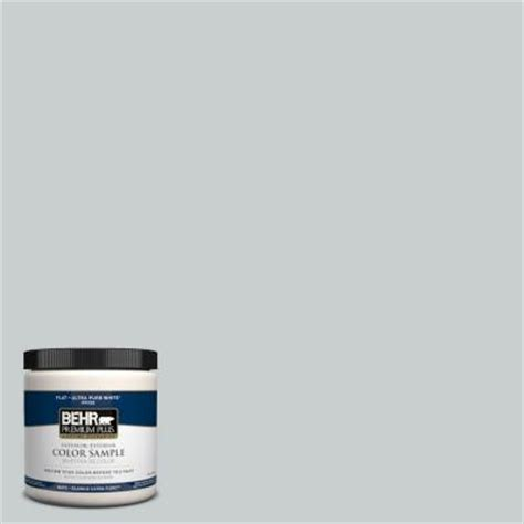 behr premium plus 8 oz 720e 2 light gray interior exterior paint sle 720e 2pp the