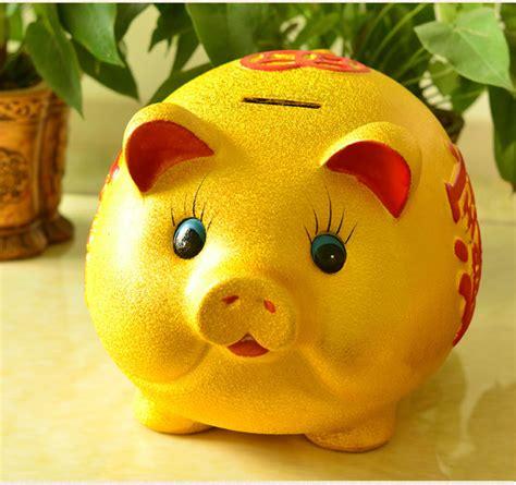 pig piggy bank large ceramic pig large piggy bank money box lucky lovely