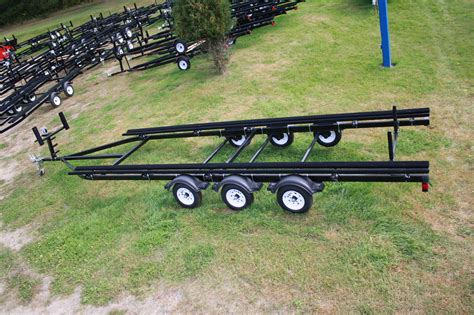 boat trailer triple axle used 27ft triple axle bunk trailer t m marine