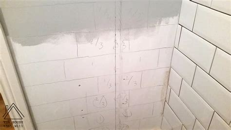 tile pattern thirds diy wall tiles