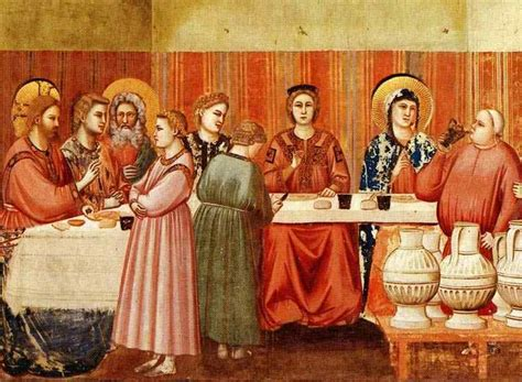King Bible Wedding At Cana by Wedding Feast In The Bible 15 Giotto The Wedding At Cana