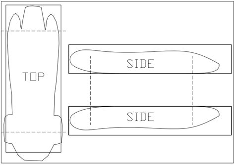 templates for cars best photos of pinewood derby car templates printable
