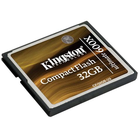Kingston Compactflash Memory Card Ultimate 600x 90mbs 32gb Cf32g kingston cf 32gb u3 32gb compactflash ultimate 600x