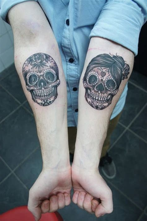 skull couple tattoos best 25 skull ideas on skeleton