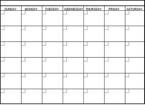 30 day calendar template printable calendar templates