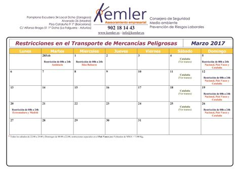 calendario de circulacion blog baseiria oil