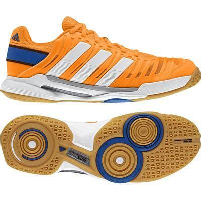 Adidas Sepatu Tennis Badminton Barricade Court White Orange Shoes Ori adidas mens adipower stabil 10 1 indoor shoes orange