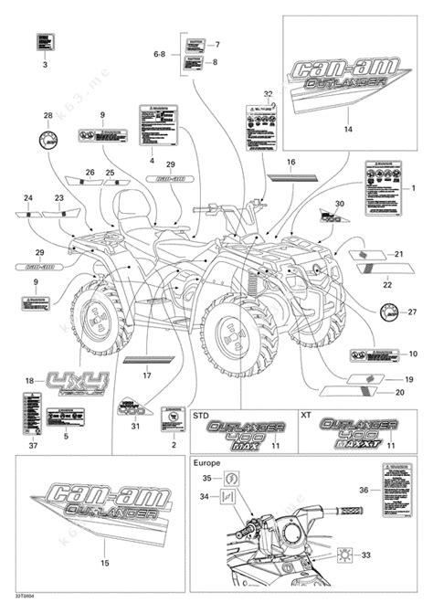 Bombardier 2008 Outlander Max 400 Xt Decals Xt Parts