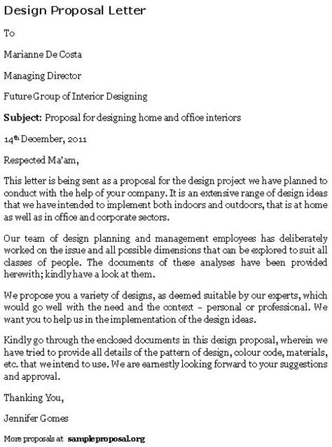 interior design proposal pdf design proposal letter sle proposals