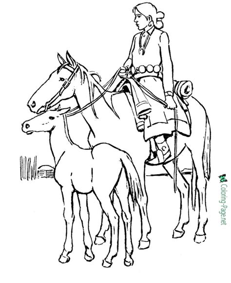 Coloring Of Horses by Coloring Pages