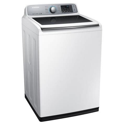samsung washer wa50m7450aw samsung appliances 5 0 cu ft high efficiency top load washer neat white