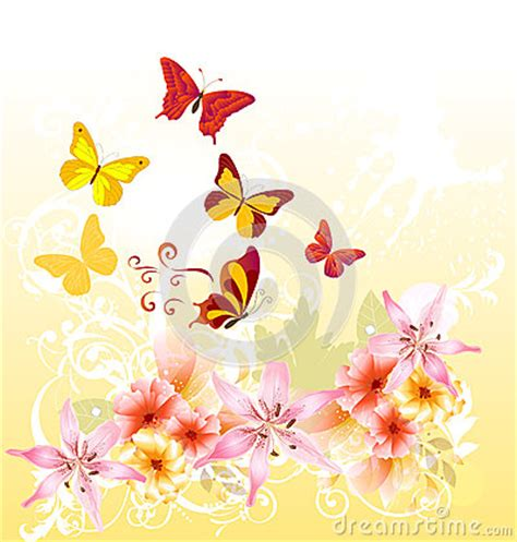 flower design greeting cards cartoon floral greeting card design stock photography