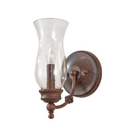 Farmhouse Wall Light L Style Wall Light In Heritage Bronze With Glass