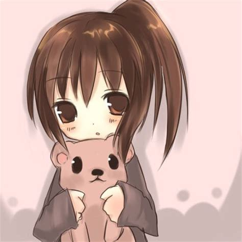 imagenes vintage años 20 anime girl an teddy bear anime girl pinterest chibi