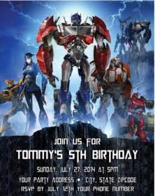 transformers birthday party invitations personalized