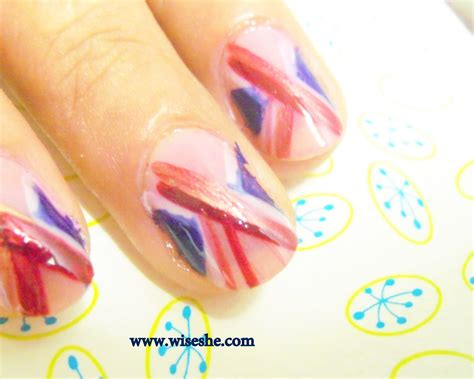 easy nail art pink and blue simple nail art design for beginners in pink and blue