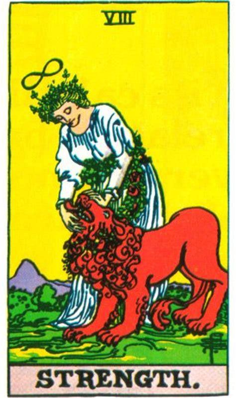 Tarot 8 Strength strength tarot card