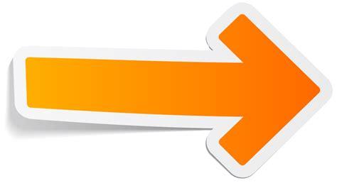 Aufkleber Transparent by Sticker Orange Arrow Transparent Png Stickpng