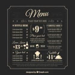 menu bar templates retro menu template vector premium