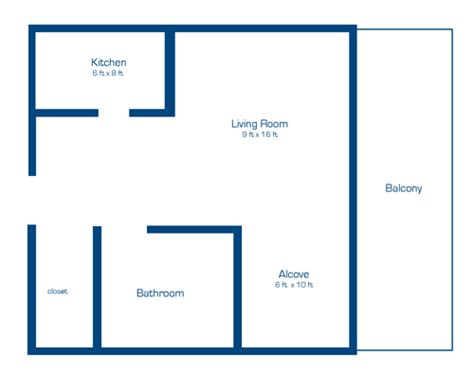 floor plan of a bachelor flat apartments close to carleton university ottawa south