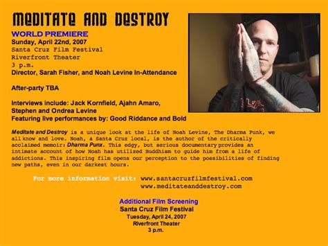Mba Project Mindfulness by Meditate And Destroy Premiere Mind Awareness Project