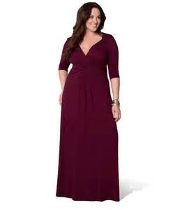 Cute long sleeve wine red plus size maxi party formal dresses with low