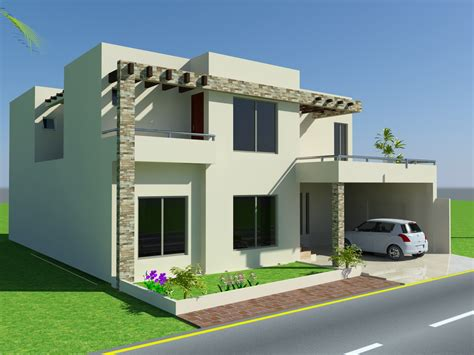 Home Design For 10 Marla | 3d front elevation com 10 marla house design mian wali