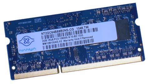 Ram Nanya 2gb Ddr3 nt2gc64b88b0ns cg nanya 2gb pc3 10600s ddr3 ram laptop