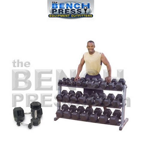 70 pound dumbbell bench press body solid 5 75lb rubber hex dumbell rack combo the