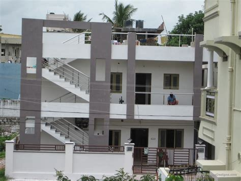 two floor building outer elevation designs india