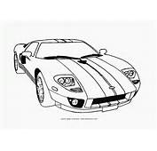Cars Coloring Pages Free Printable Supercar Ford Gt Page
