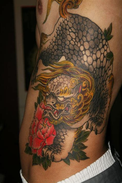 chinese dog tattoos designs asian foo